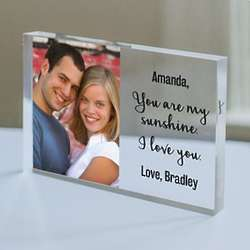 Personalized You Are My Sunshine Photo Acrylic Plaque