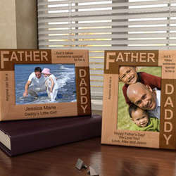 Personalized Father...Daddy Wooden Picture Frame