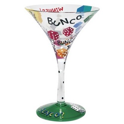 Bunco-tini Martini Glass
