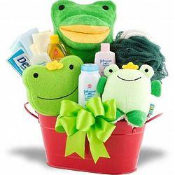 Little Frog Bath Time Gift Basket