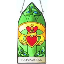 Claddagh Ring Stained Glass