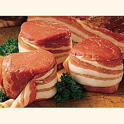 Bacon-Wrapped Filet Mignon 24 6-oz. Steaks