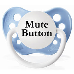 Blue Mute Button Pacifier