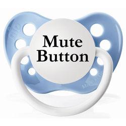 Blue Mute Button Pacifier