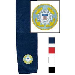 USCG Logo Tri-fold Hemmed Golf Towel