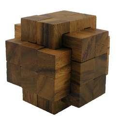 18 Piece Burr Wooden Puzzle Brain Teaser