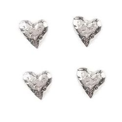 Li'l Hearts Pewter Magnet Set