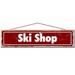 Rustic Pine Ski Shop Sign