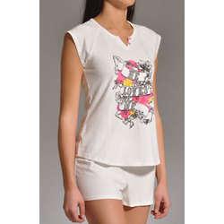 Cotton Stretch Shortie Pajama Set