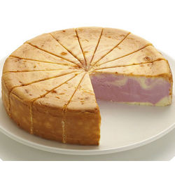 9 Inch Raspberry Swirl Cheesecake