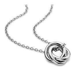 Sterling Silver Infinity Love Knot Pendant