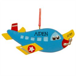 Airplane Personalized Christmas Ornament