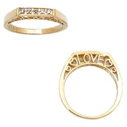 10K Diamond Highlight Love Ring