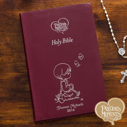Personalized Precious Moments Burgundy Children's Bible