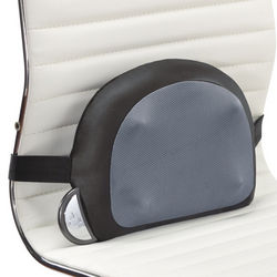 Black and Gray Lumbar Massage Cushion