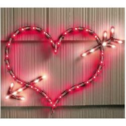 Lighted Arrow Heart
