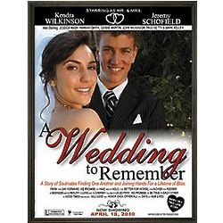 Personalized Framed Wedding Movie Canvas