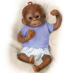 Jo Jo Poseable Monkey Baby Doll
