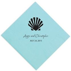 Personalized Shell Party Napkins
