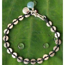 Silver Peace Chalcedony Charm Bracelet