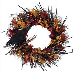 Old Crow Fall Wreath