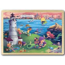 Little Mermaids of Boston Harbor Wooden Puzzle