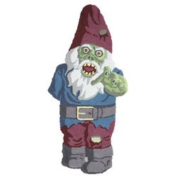 Zombie Gnome Hooked Rug