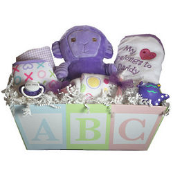 Purple Daze Baby Basket