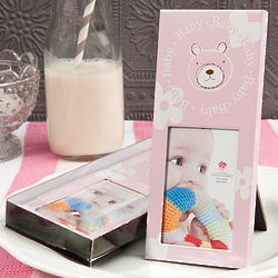 Baby Girl Teddy Bear Picture Frame