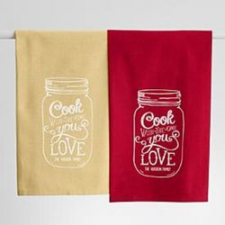 Mason Jar Design Personalized Kitchen Towel