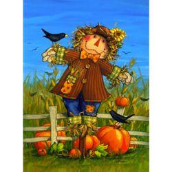 October Scarecrow Fall Garden Flag