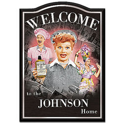 I Love Lucy Personalized Wooden Welcome Sign