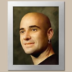 Andre Agassi Oil Painting Giclee