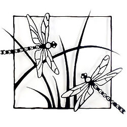 Dragonfly Metal Wall Sculpture