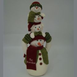 Stacking Snowmen Personalized Christmas Decoration
