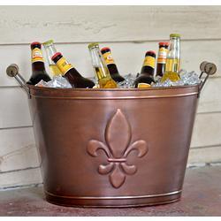 Fleur de Lis Bronze Beverage Tub
