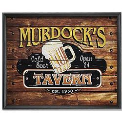 Personalized Framed Tavern Theme Canvas