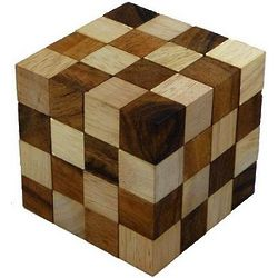 Anaconda Cube Wooden Puzzle Brain Teaser