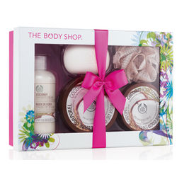 Coconut Shower, Scrub and Soften Luxury Gift Set