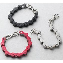 Bike Chain Bracelet with Lobster Claw Clasp