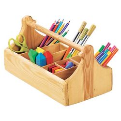 Wooden Crayon Caddy