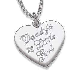 Sterling Silver Daddy's Little Girl Pendant