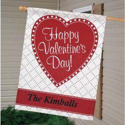 Personalized Valentine Flag
