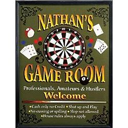 Personalized Framed Game Room Canvas