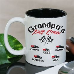Personalized Pit Crew Mug