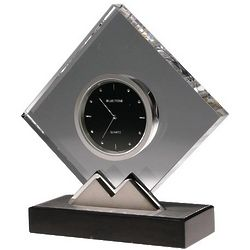 Diamond Shaped Crystal Clock