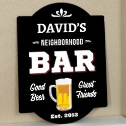 Personalized Neighborhood Bar Sign