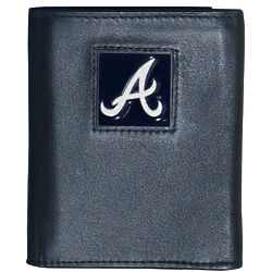 MLB Team Logo Leather Tri-Fold Wallet