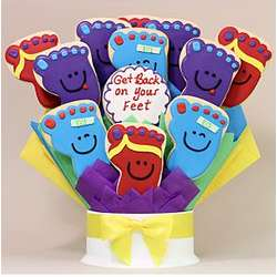 Get Back On Your Feet Dozen Cookie Bouquet