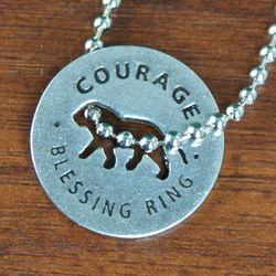 Courage Lion Blessing Ring Disc